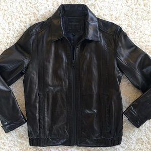 Andrew Marc x Richard Chai   Leather Coat
